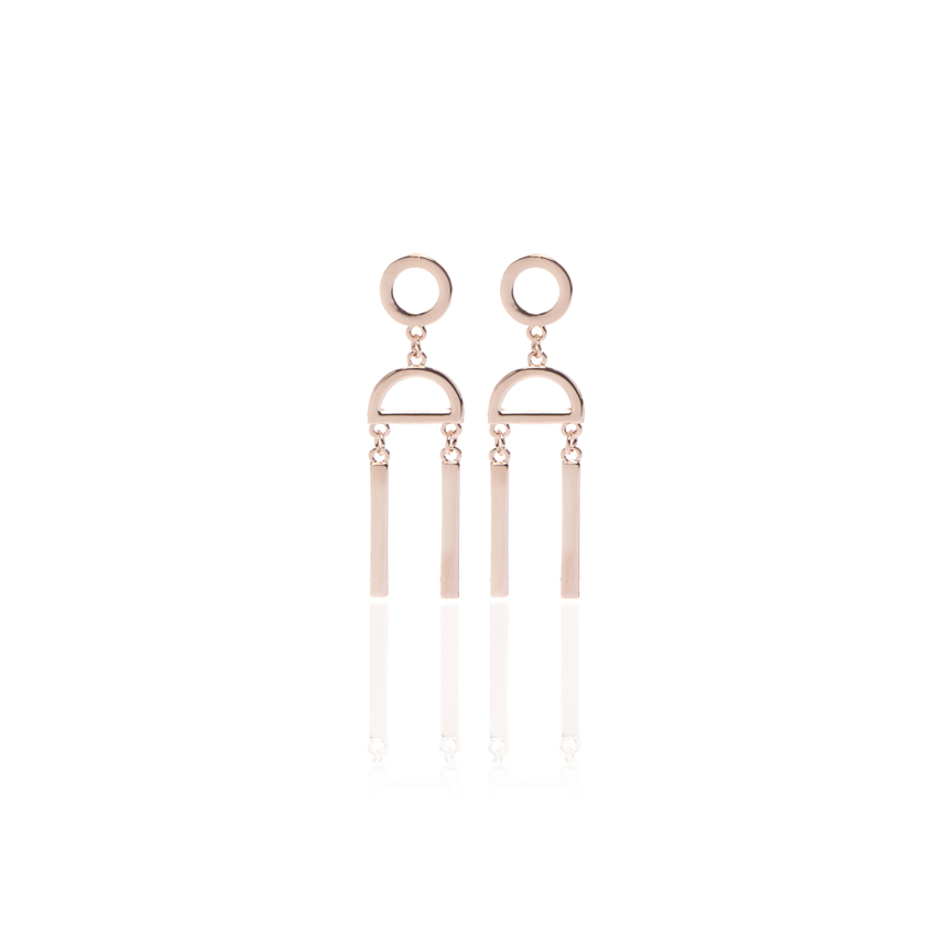 Rose Gold Be Bold Abstract Earrings
