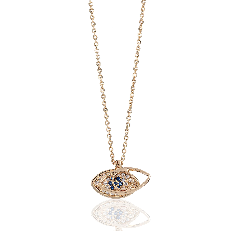Gold Wonderlust Evil Eye Necklace