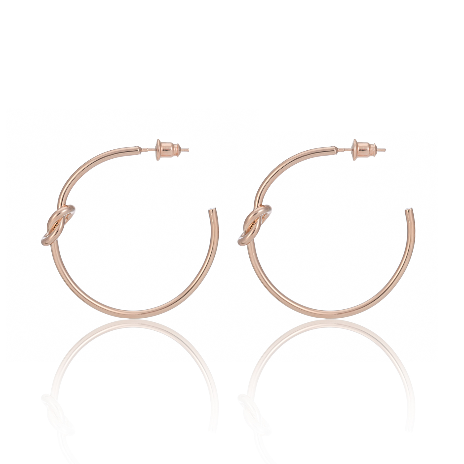 ROSE GOLD BE BOLD KNOT HOOPS
