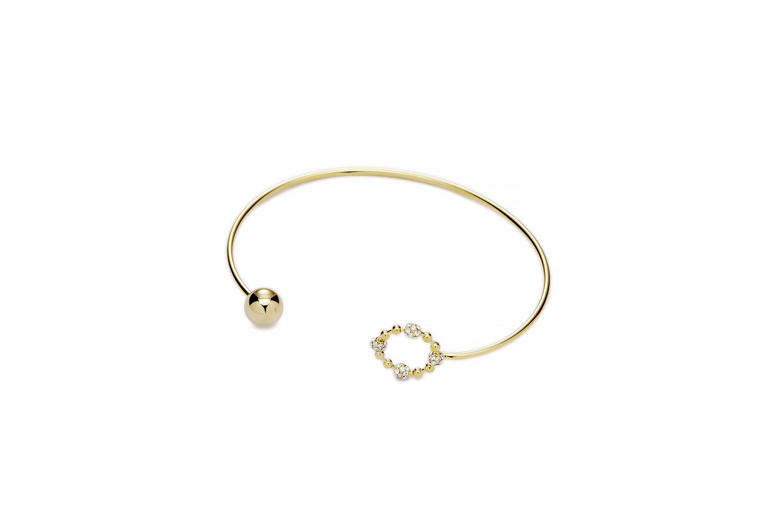 GOLD Crystal Cluster Bangle