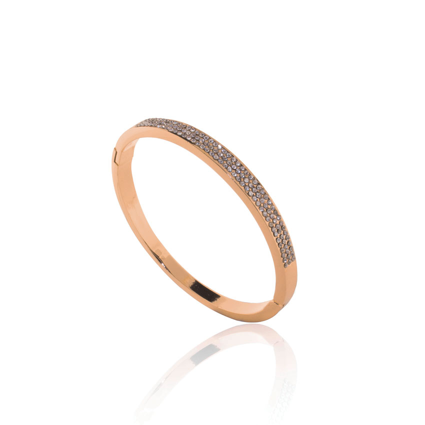 Gold Linear Crystal Bangle