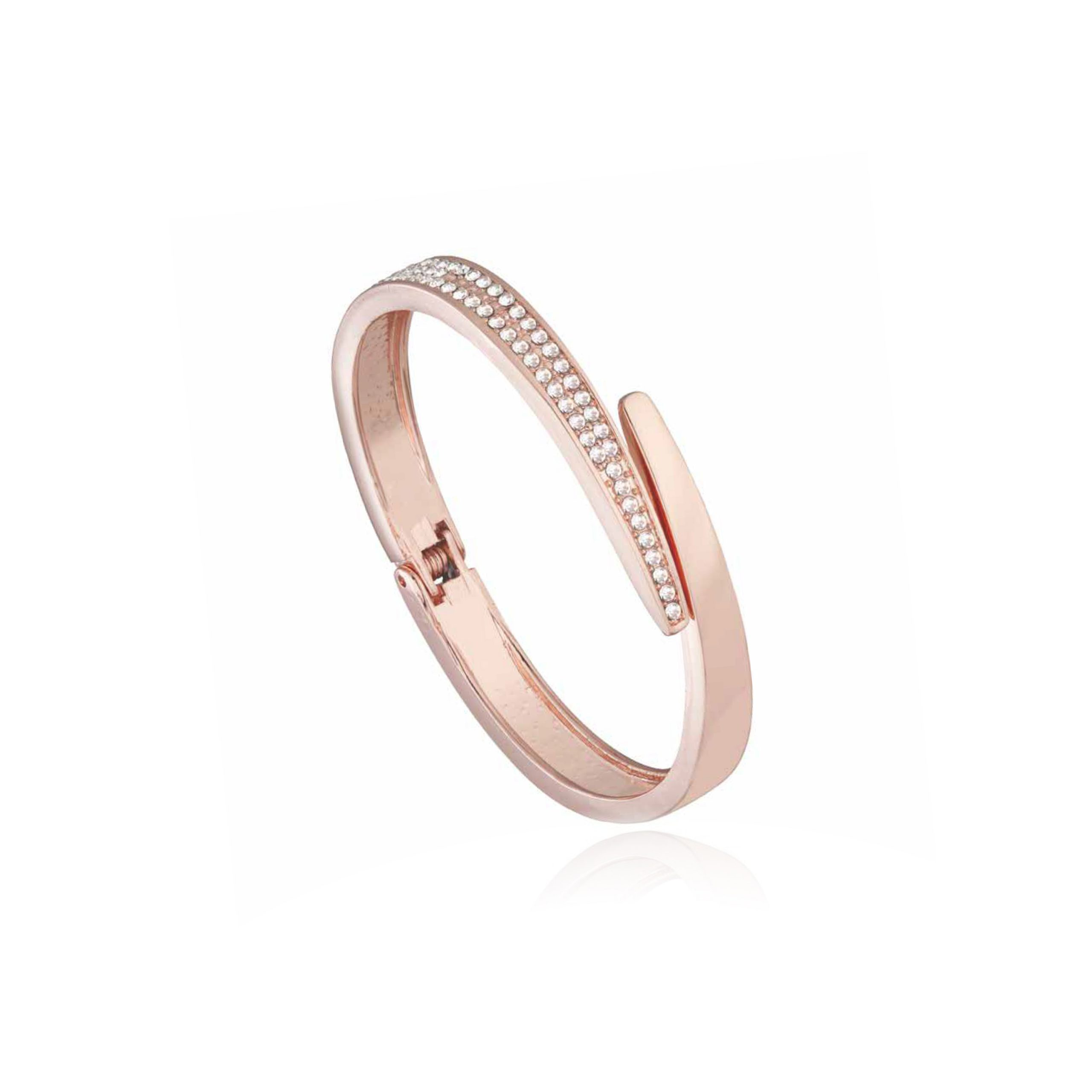 Rose Gold Unity Crystal Bangle