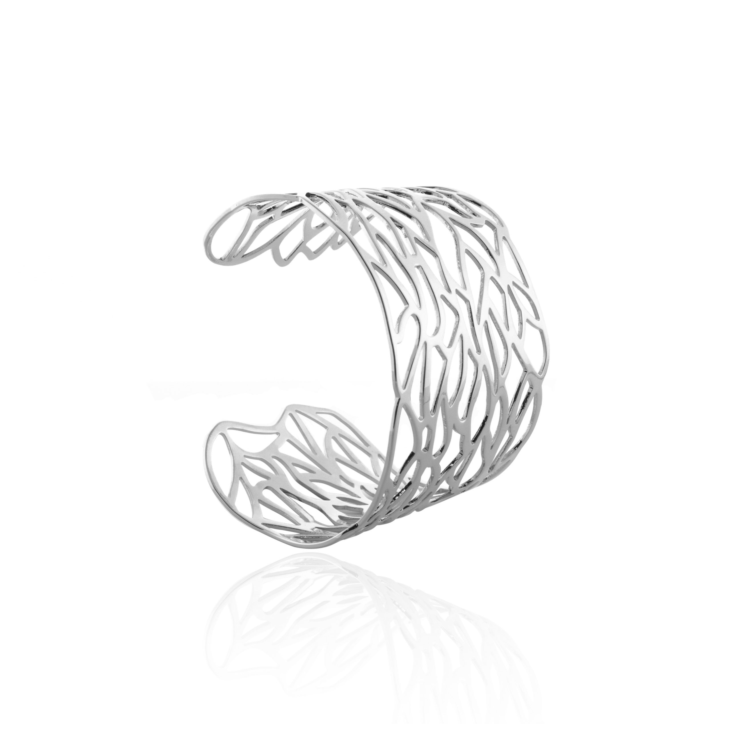 Silver Swirl Cuff