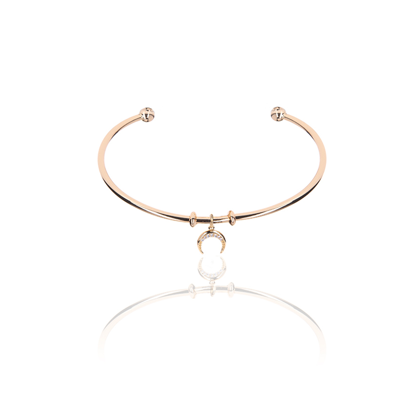 Gold Wonderlust Crystal Horn Bangle
