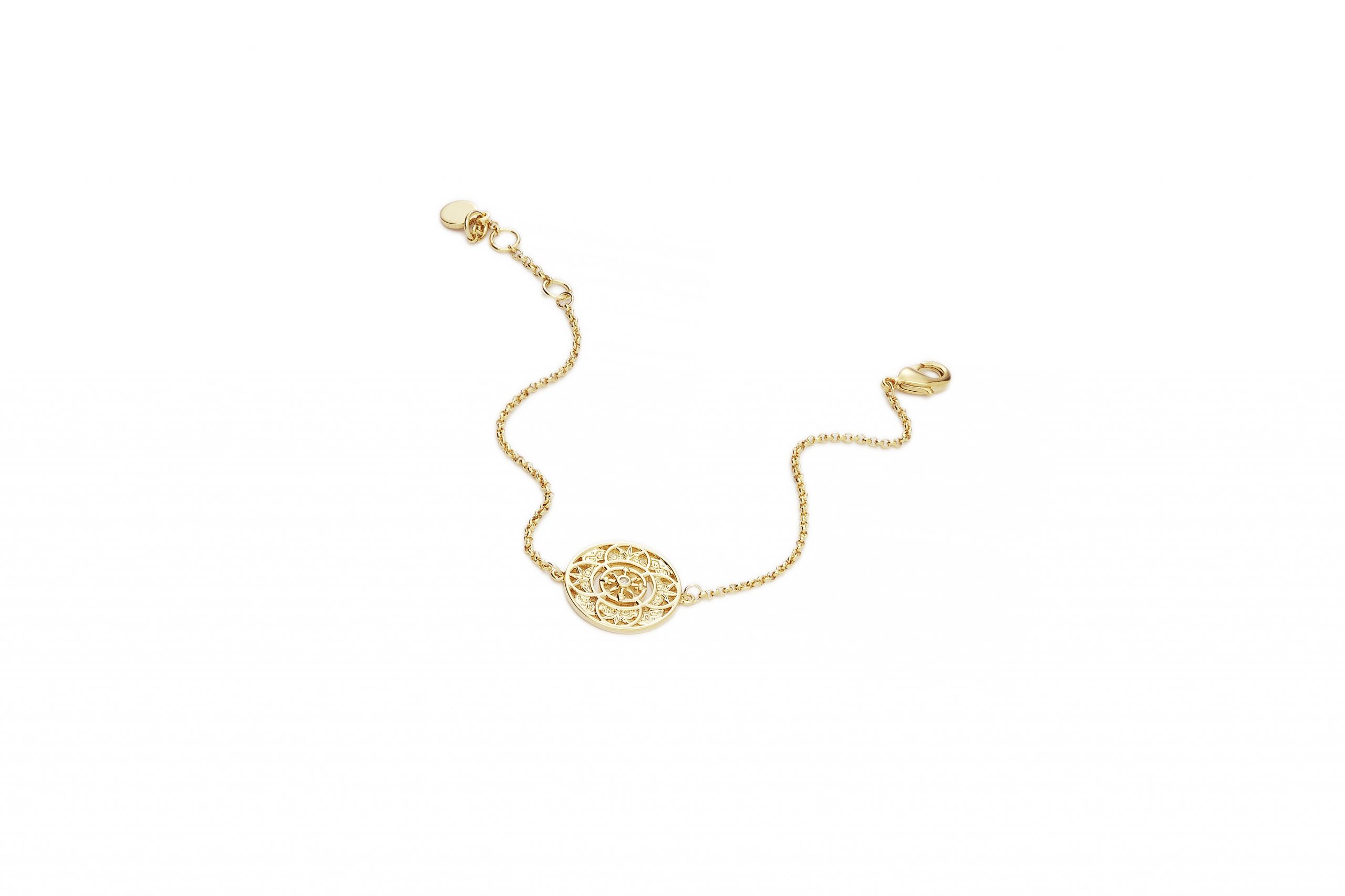 GOLD Fantasy Disc Bracelet