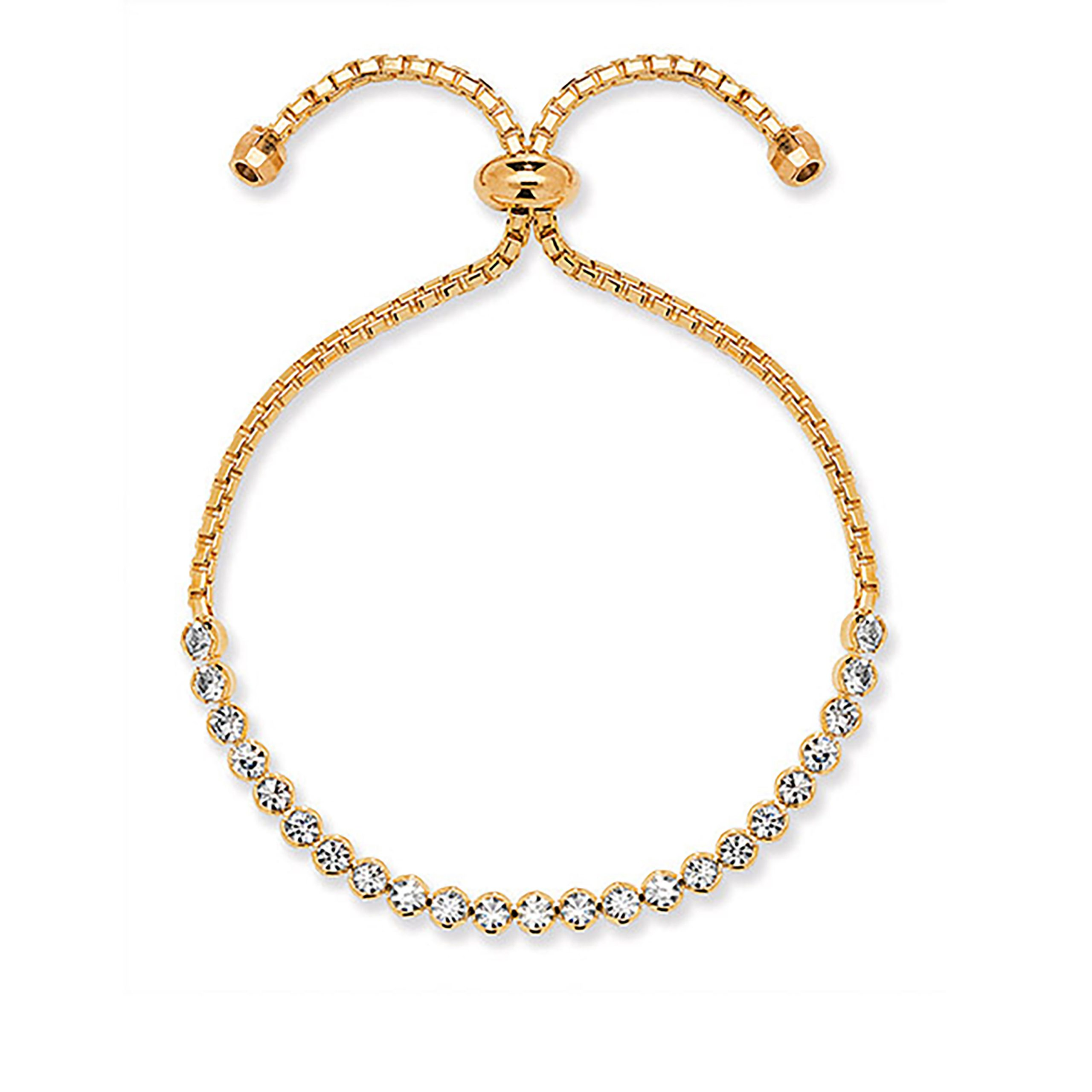 Gold Crystal Toggle Bracelet