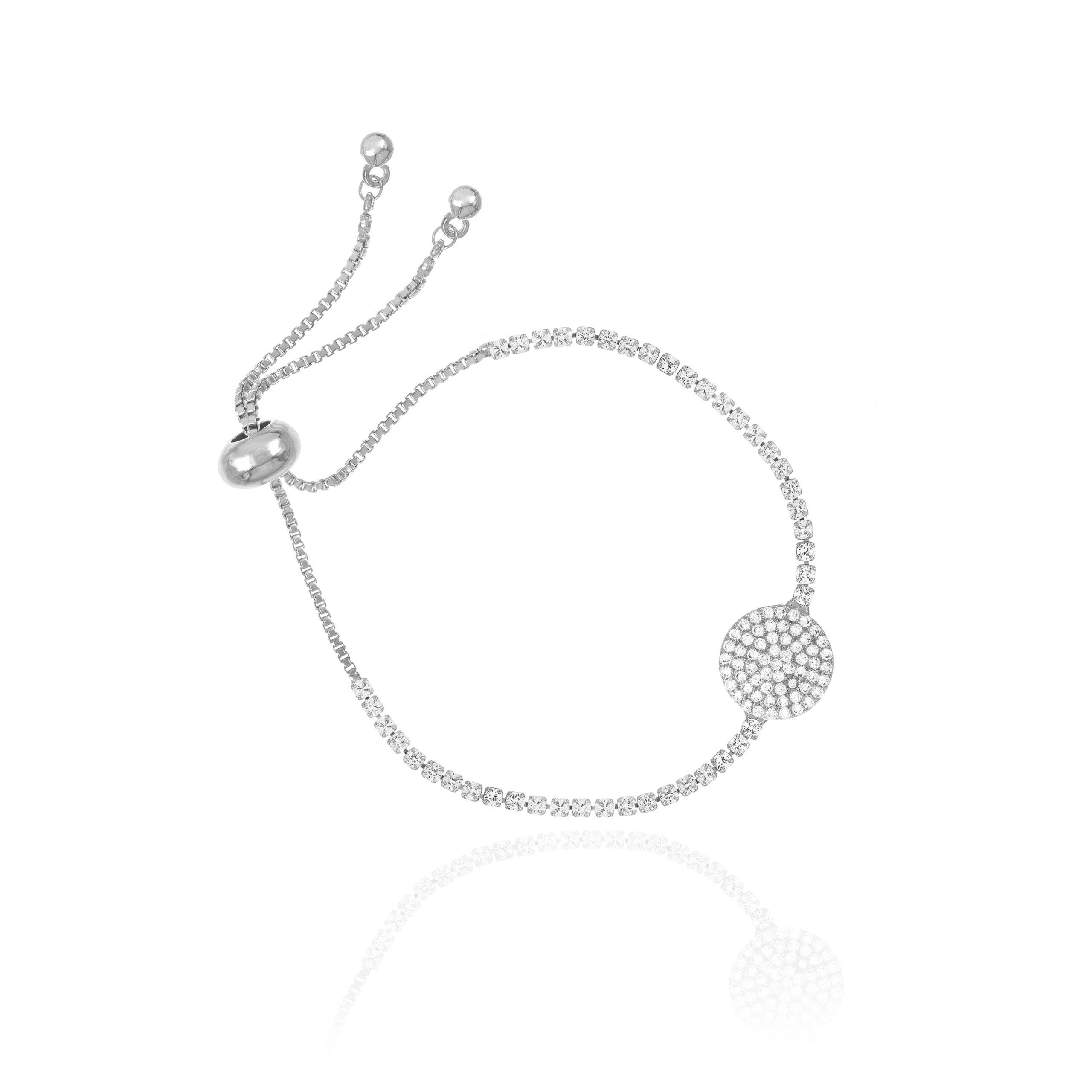 Silver Arena Toggle Bracelet