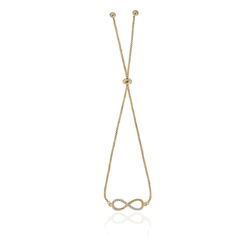 Gold Infinity Toggle Bracelet