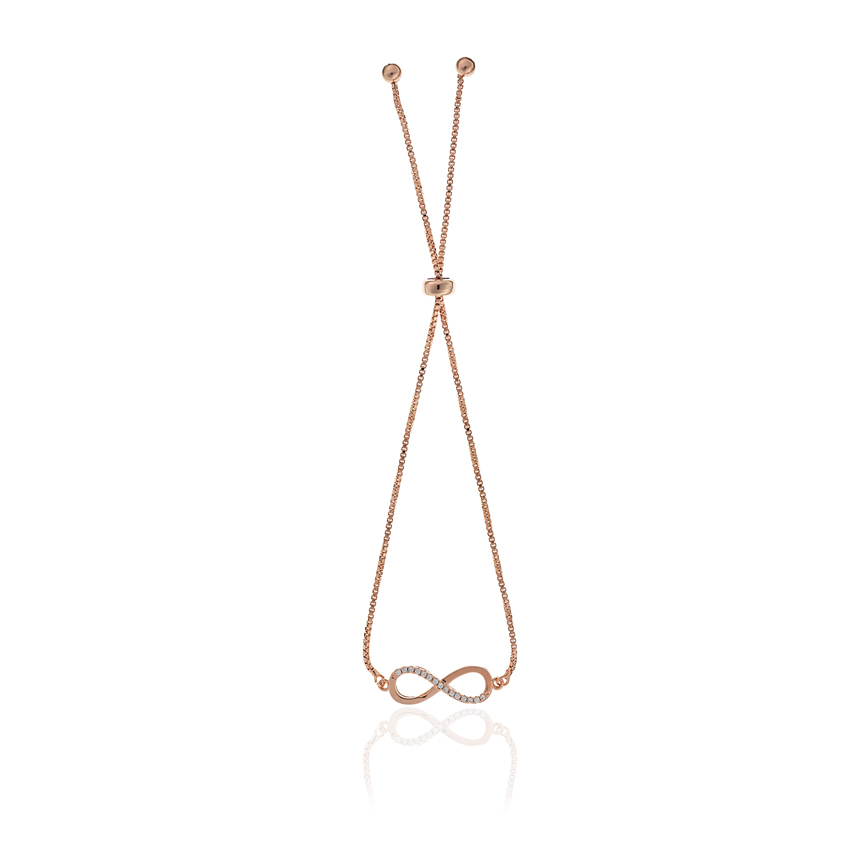 Rose Gold Infinity Toggle Bracelet