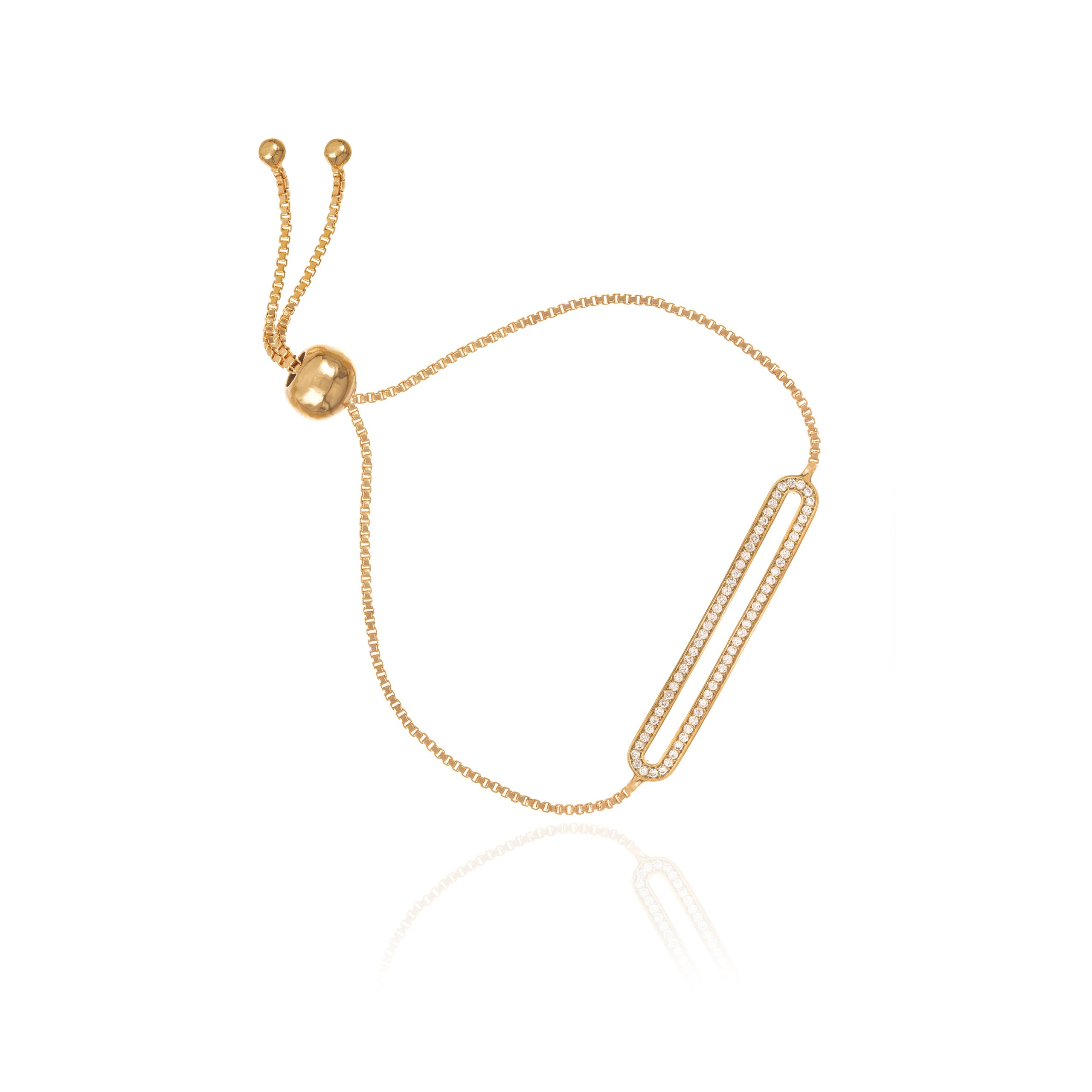 Gold Runway Toggle Bracelet