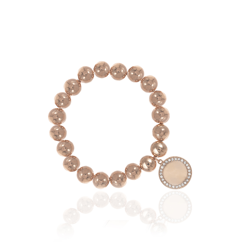 Rose Gold Cameo Statement Disc Bracelet