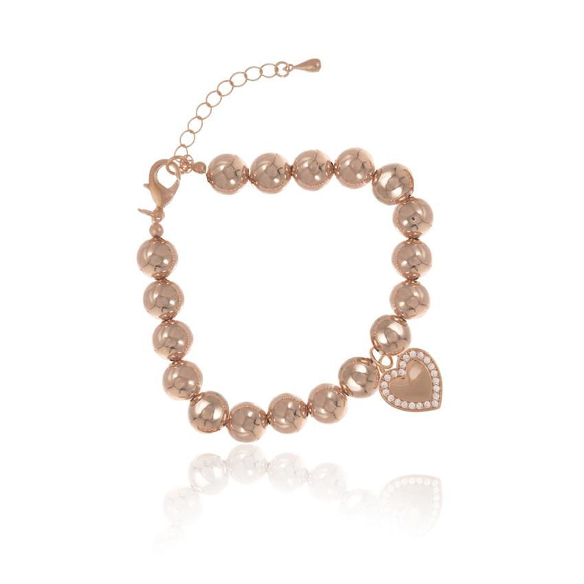Rose Gold Cameo Statement Love Bracelet
