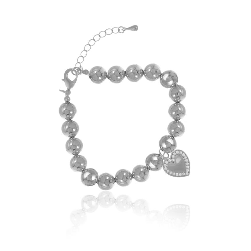 Silver Cameo Statement Love Bracelet