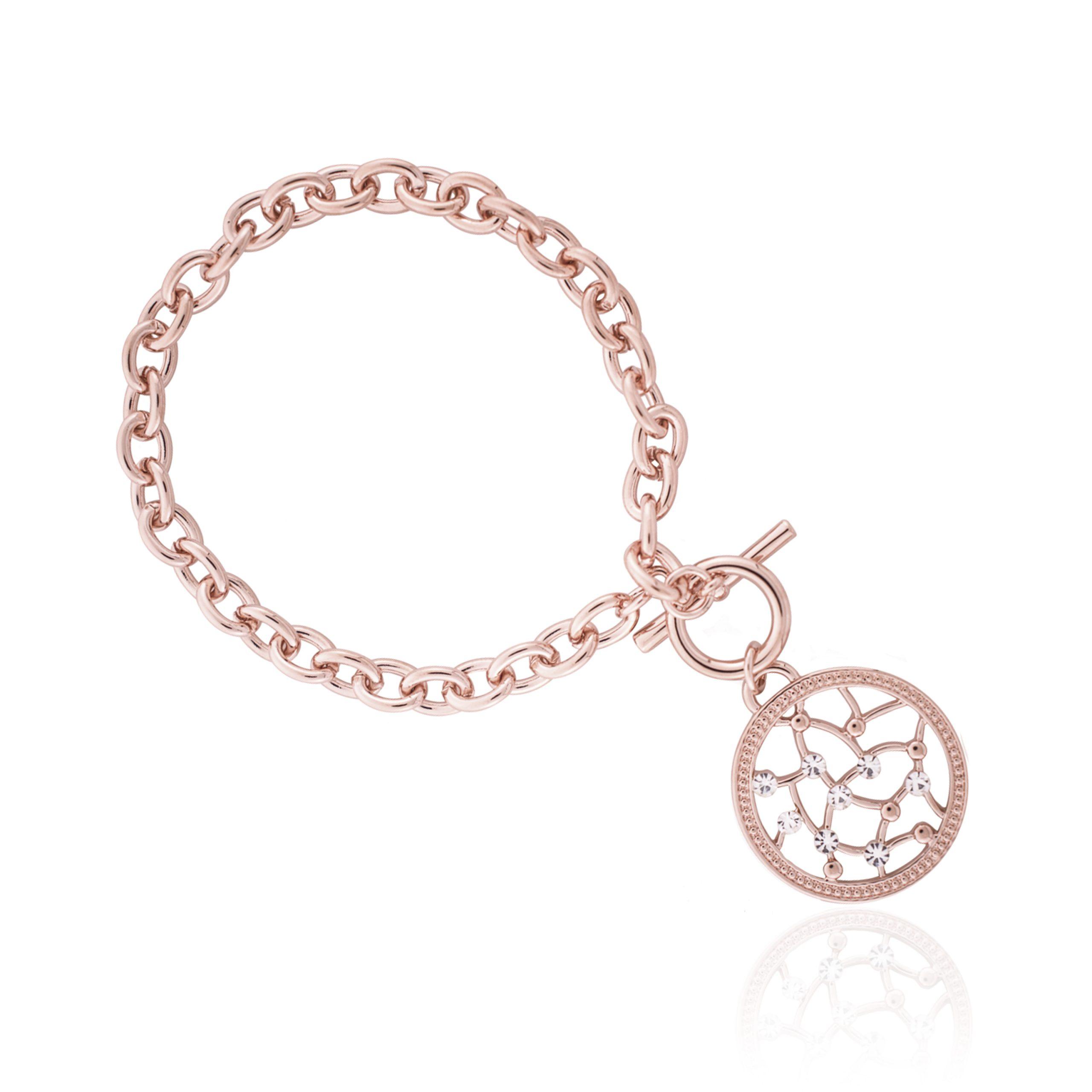 Rose Gold Cameo Circus Bracelet
