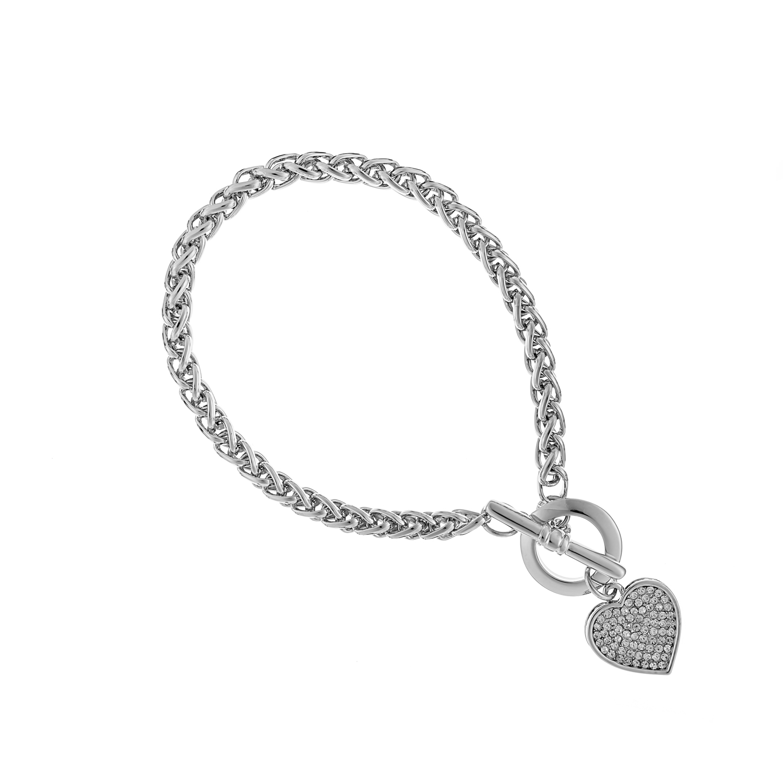 Silver Cameo Universe T-Bar Bracelet