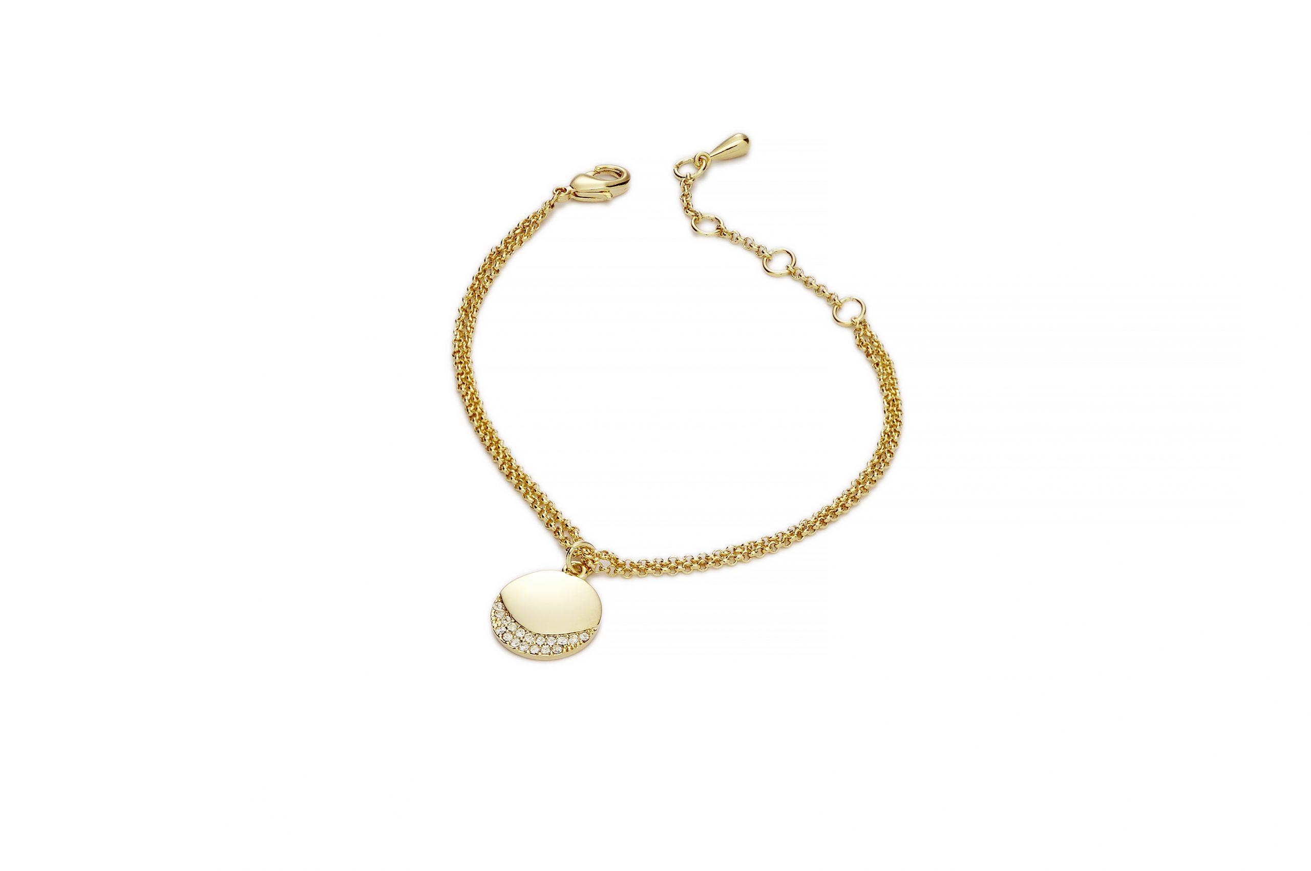 GOLD Gold Crescent Bracelet