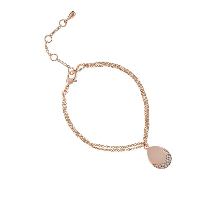 Cameo Rose Gold Teardrop Bracelet