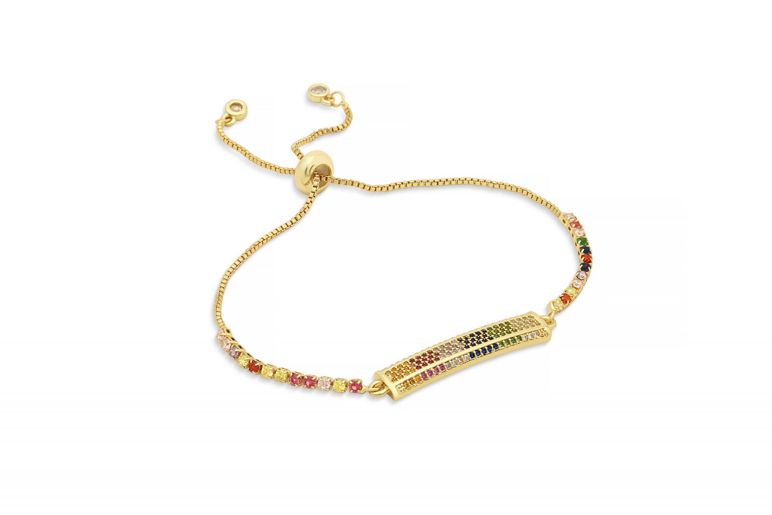 Gold Rainbow Motley Bracelet