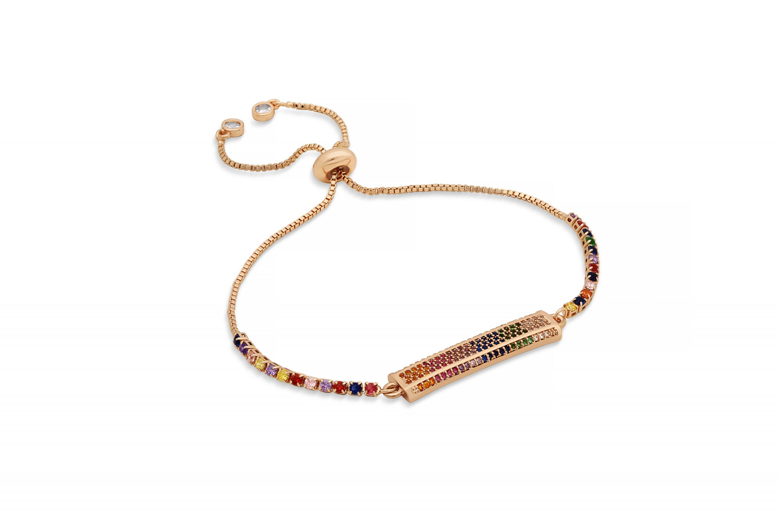 Rose Gold Rainbow Motley Bracelet