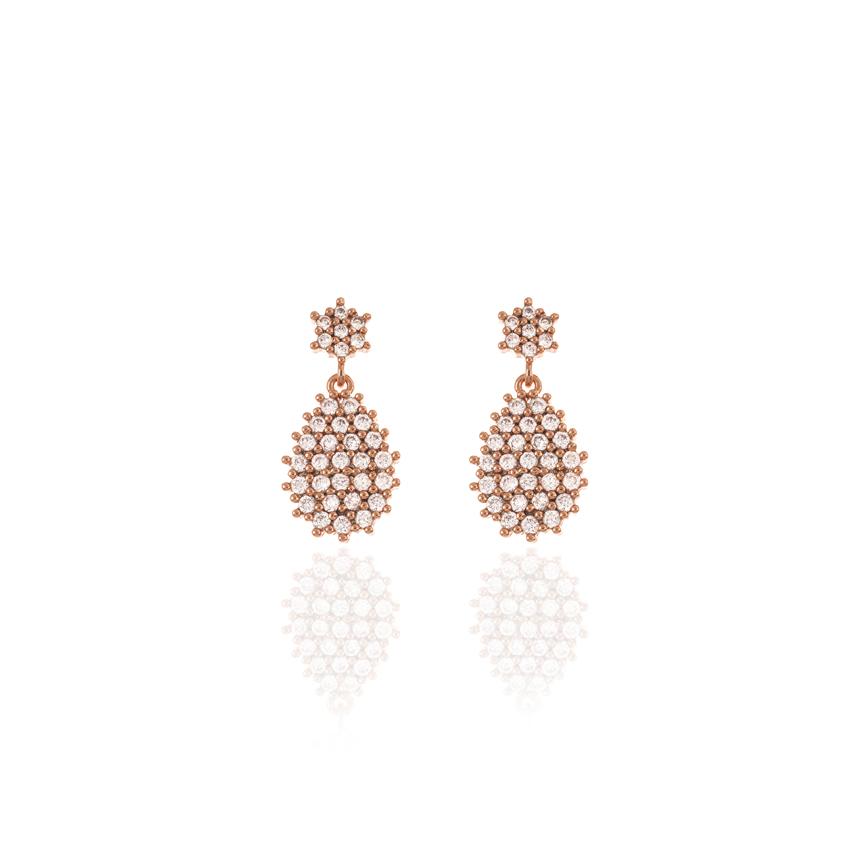 Rose Gold Wonderlust Crystal Tear Drop Earrings
