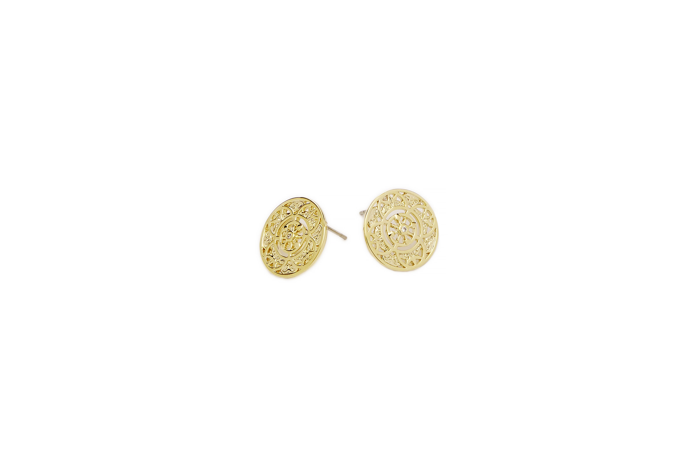 GOLD Fantasy Disc Earrings