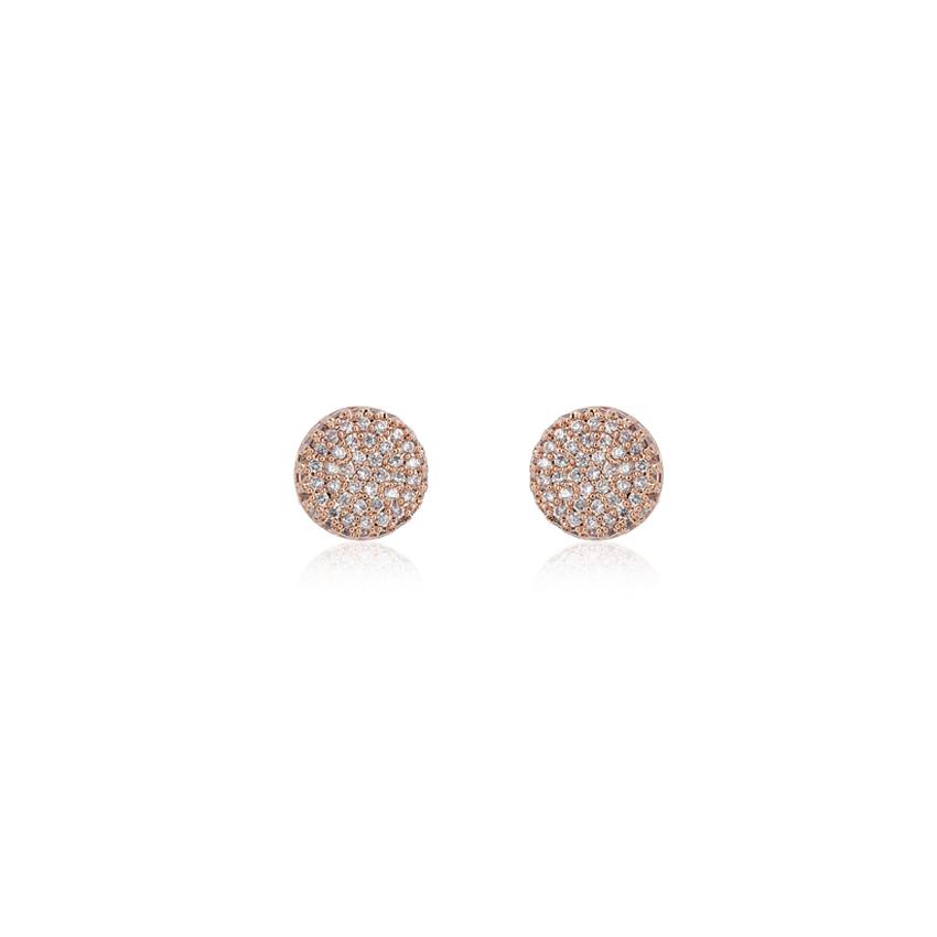 Rose Gold Vintage Circle Earrings