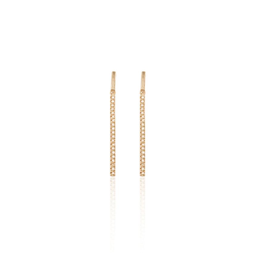 Rose Gold Deco Drop Earrings