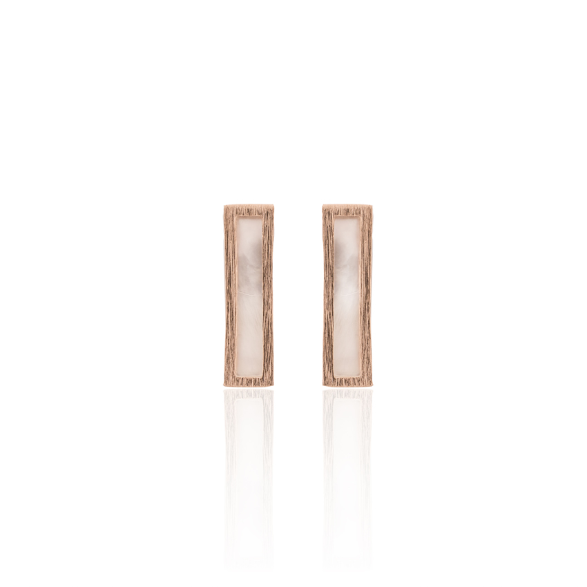Rose Gold Ravenna Bar Earrings