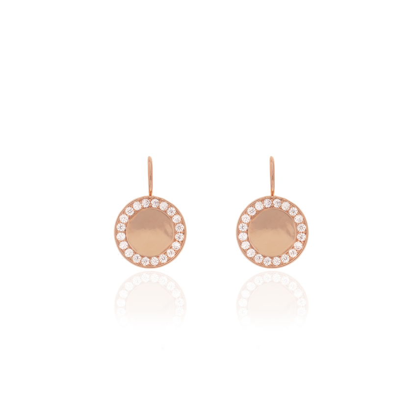 Rose Gold Cameo Cirque Earrings