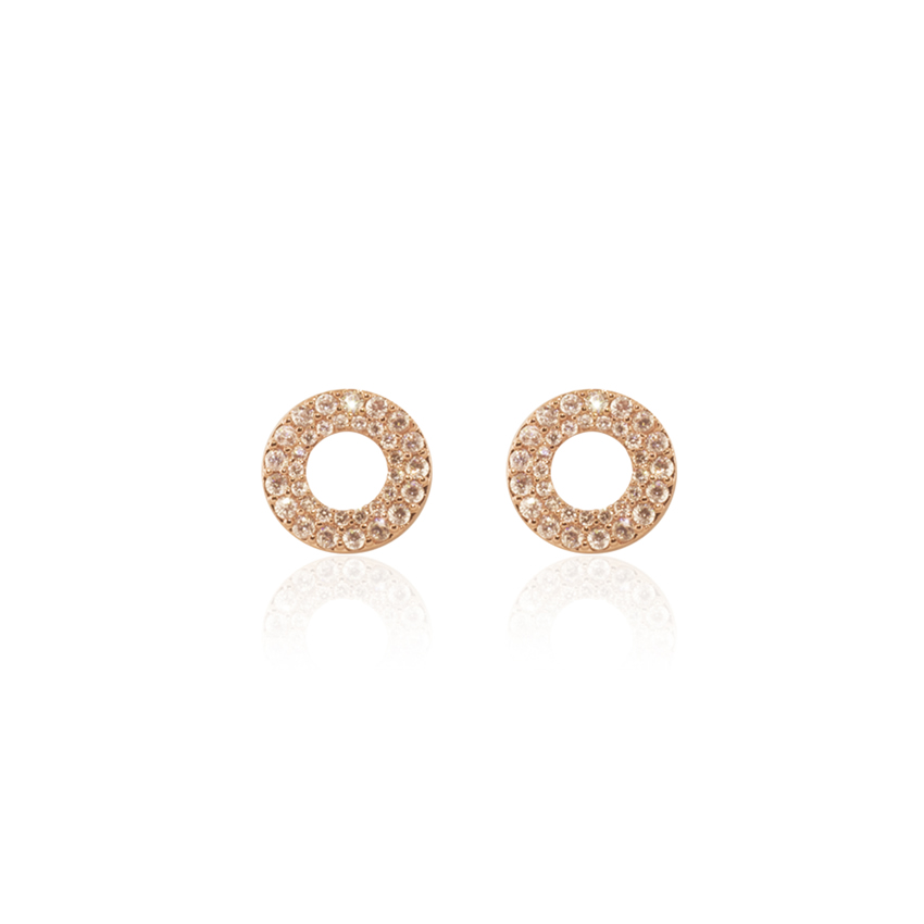 Rose Gold Pave Cosmo Earrings