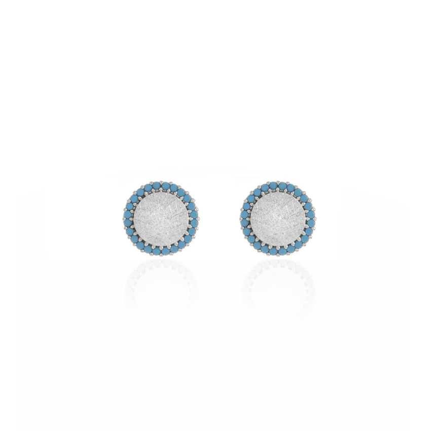 Silver Riviera Dainty Disc Earrings