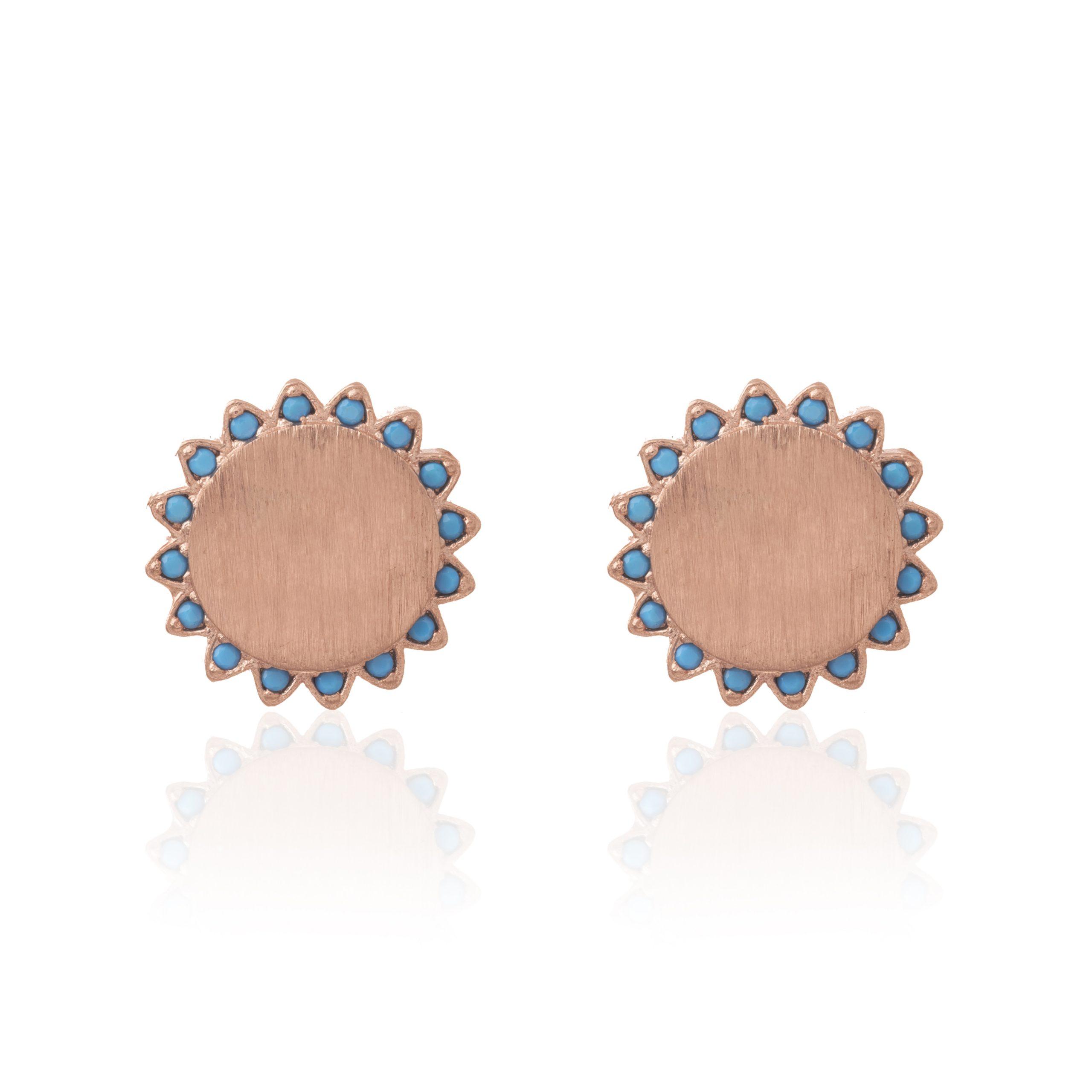 Rose Gold Rivieria Sun Earrings
