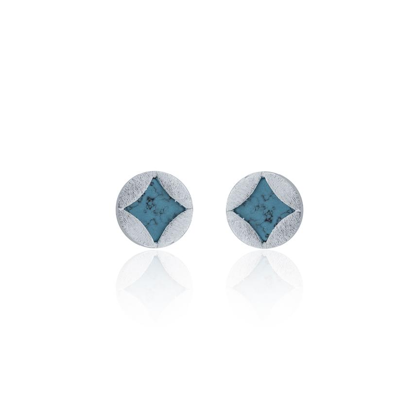 Silver Ravenna Pattern Earrings