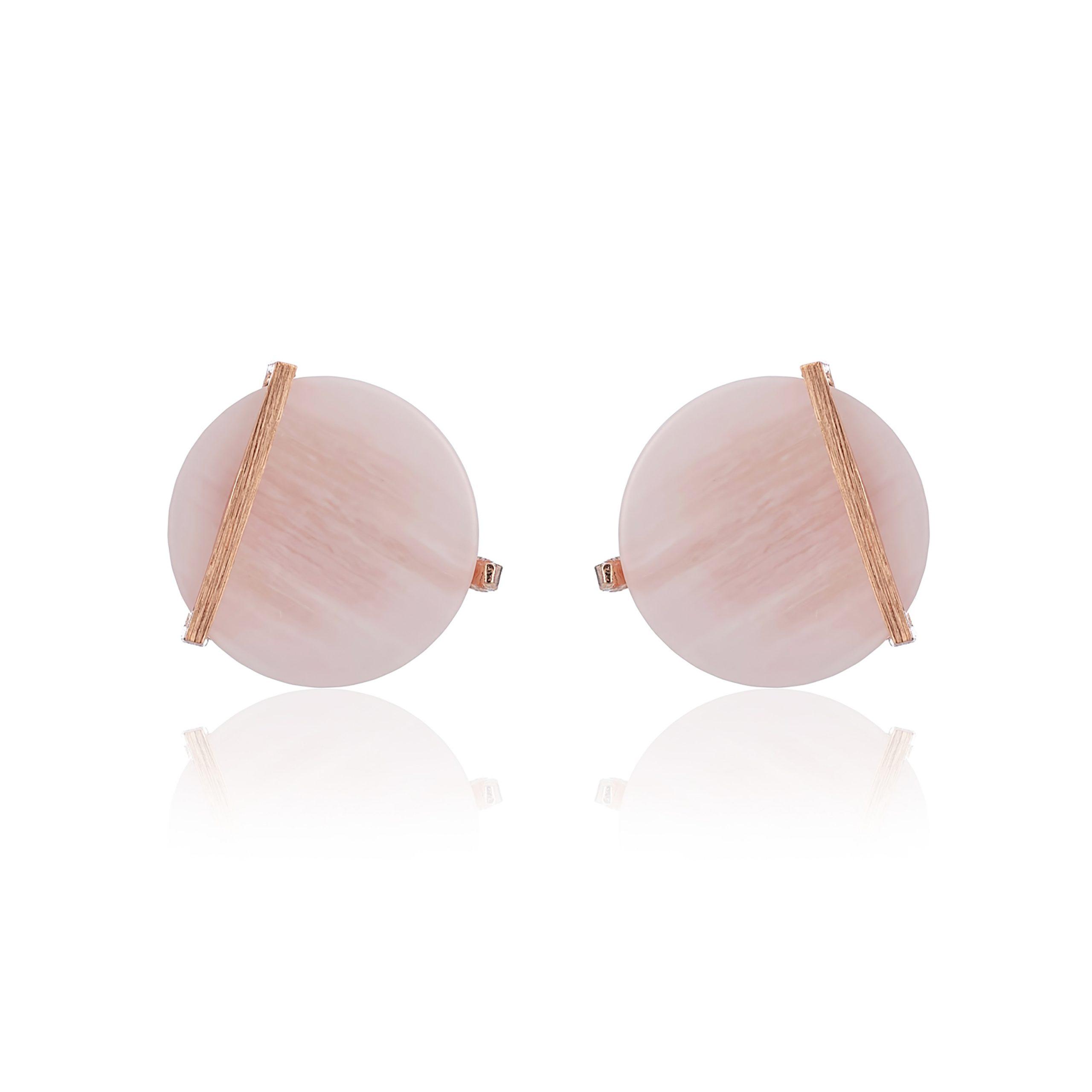 Rose Gold Cosmic Blush Disc Earrings