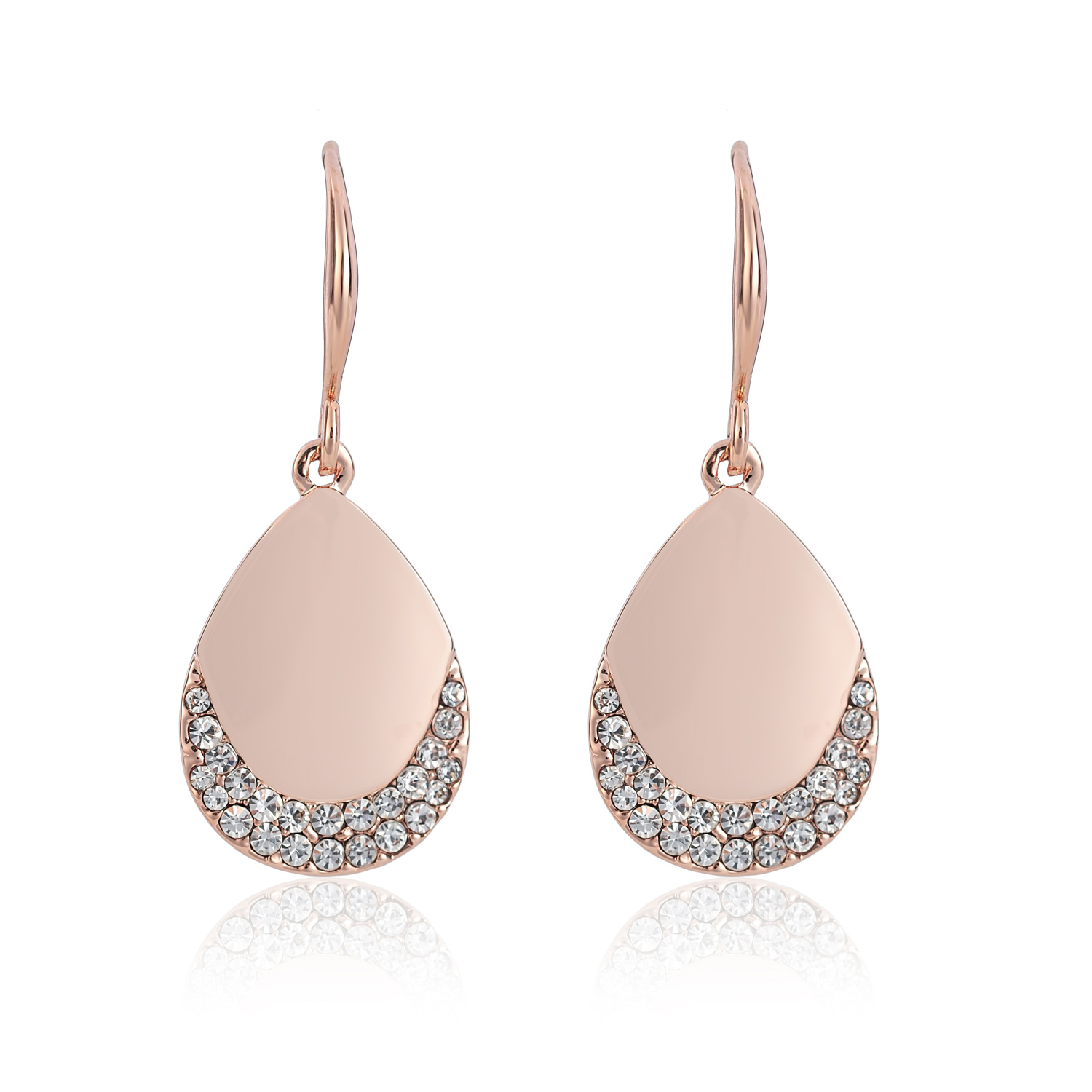 Cameo Rose Gold Teardrop Earrings