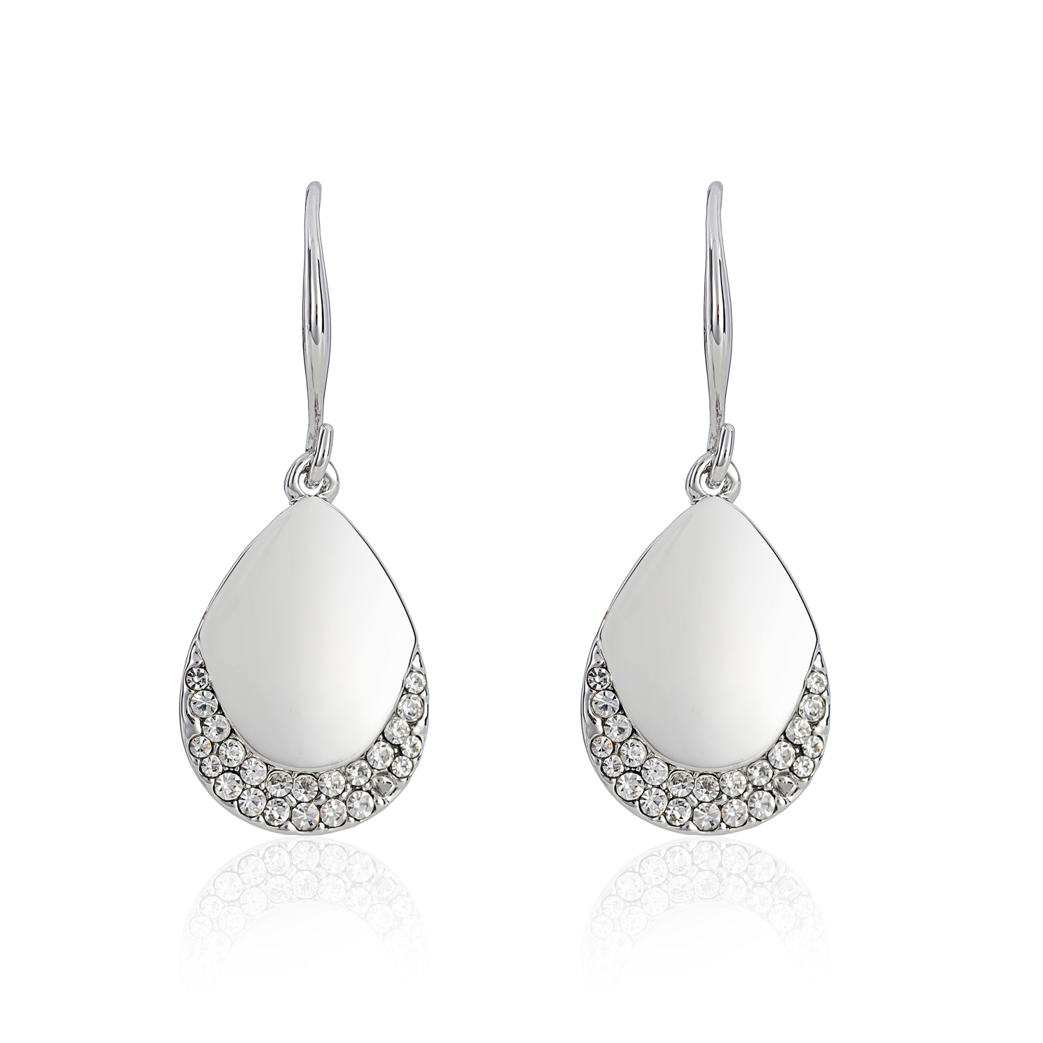 Cameo Silver Teardrop Earrings