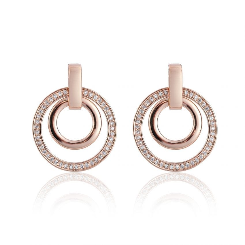 Cameo Rose Gold Circle Sync Earrings
