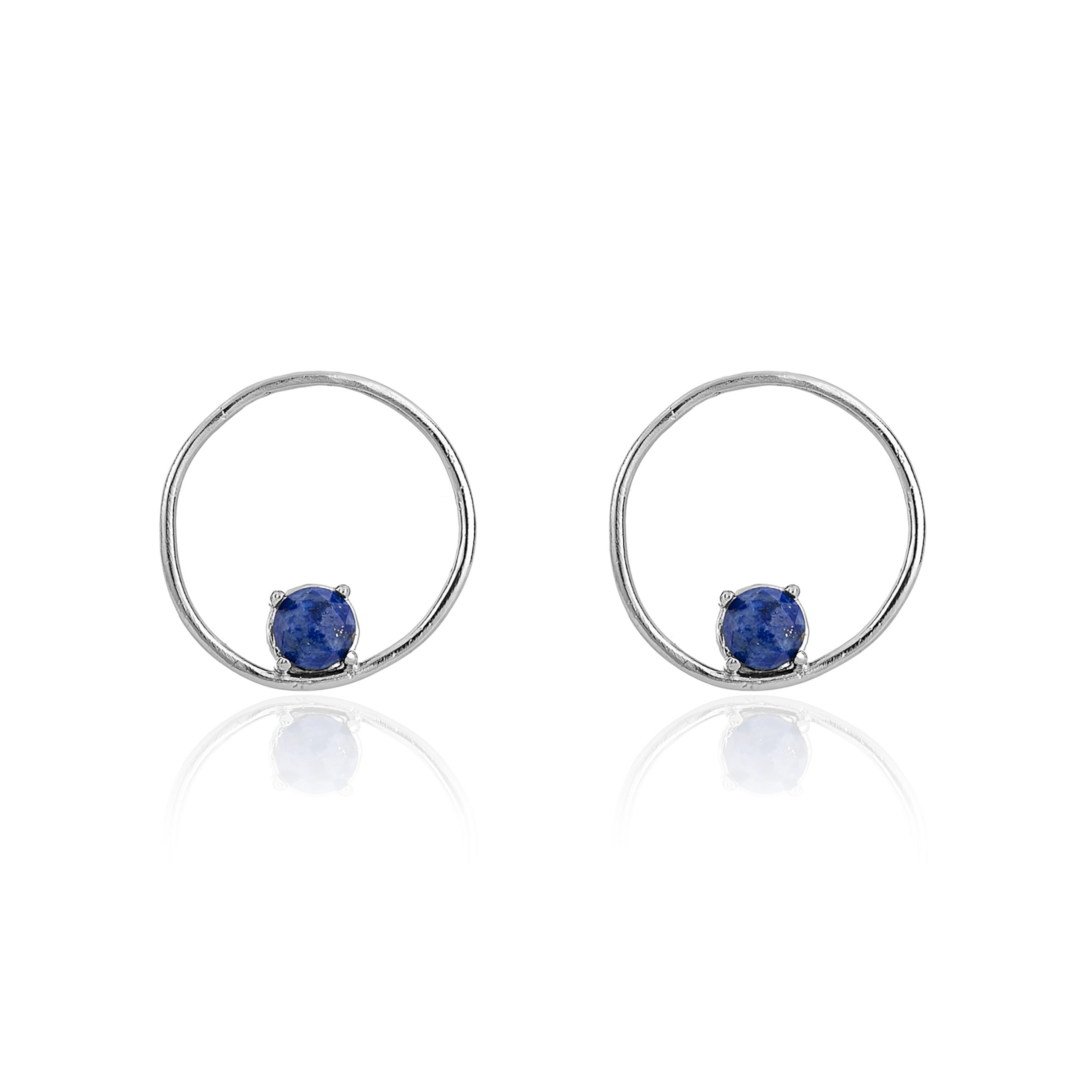 Silver Cosmic Midnight Blue Cirque Earrings