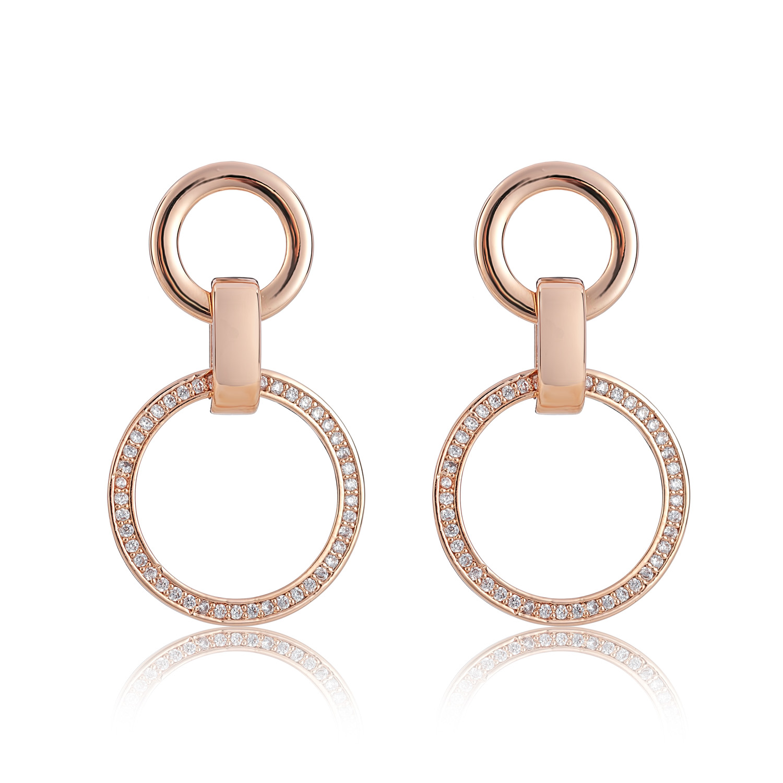 Cameo Rg Circle Paralell Earrings