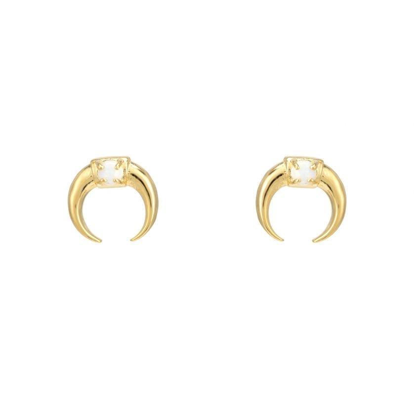 Wonderlust Gold & Opalescent Horn Earrings