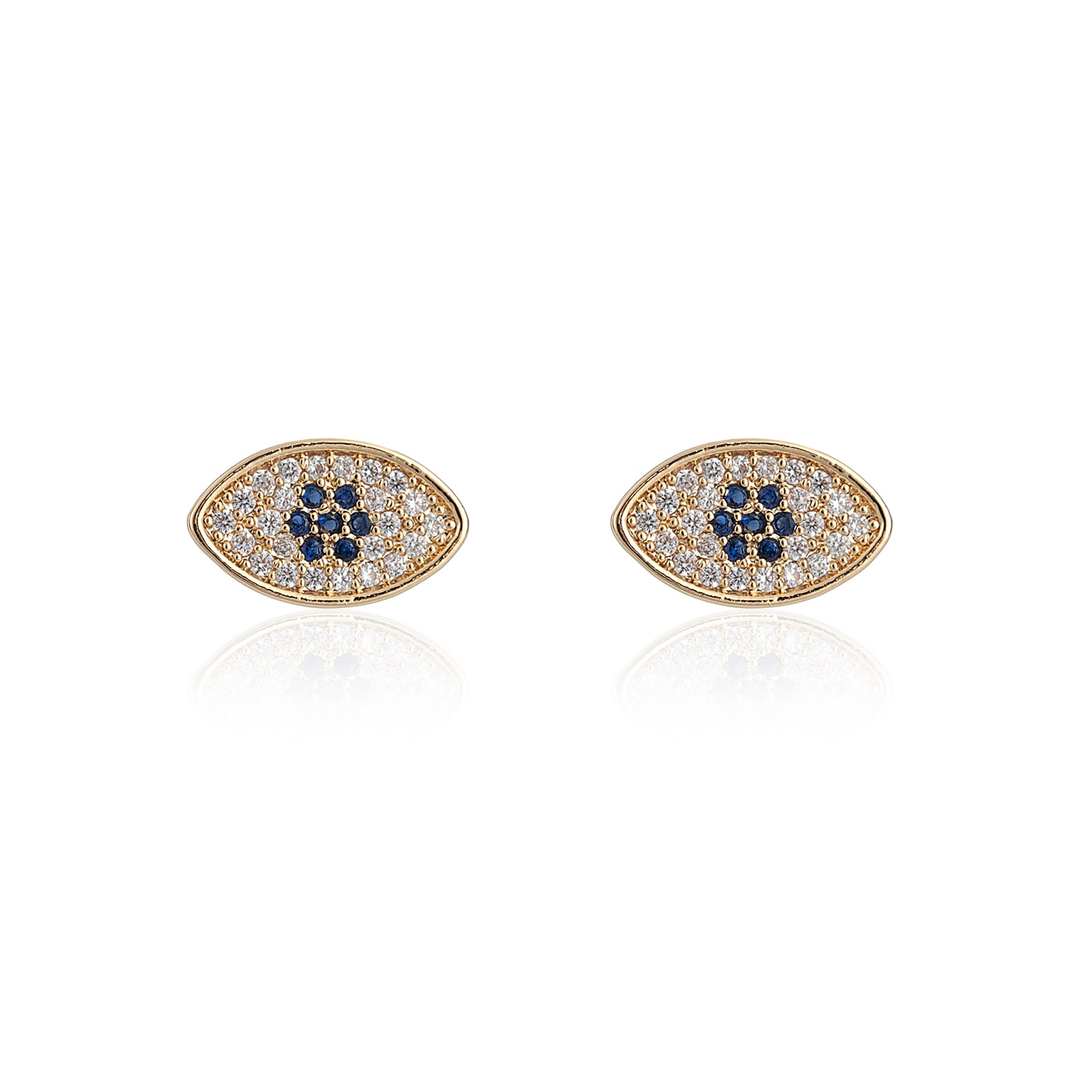 Gold Wonderlust Evil Eye Earrings