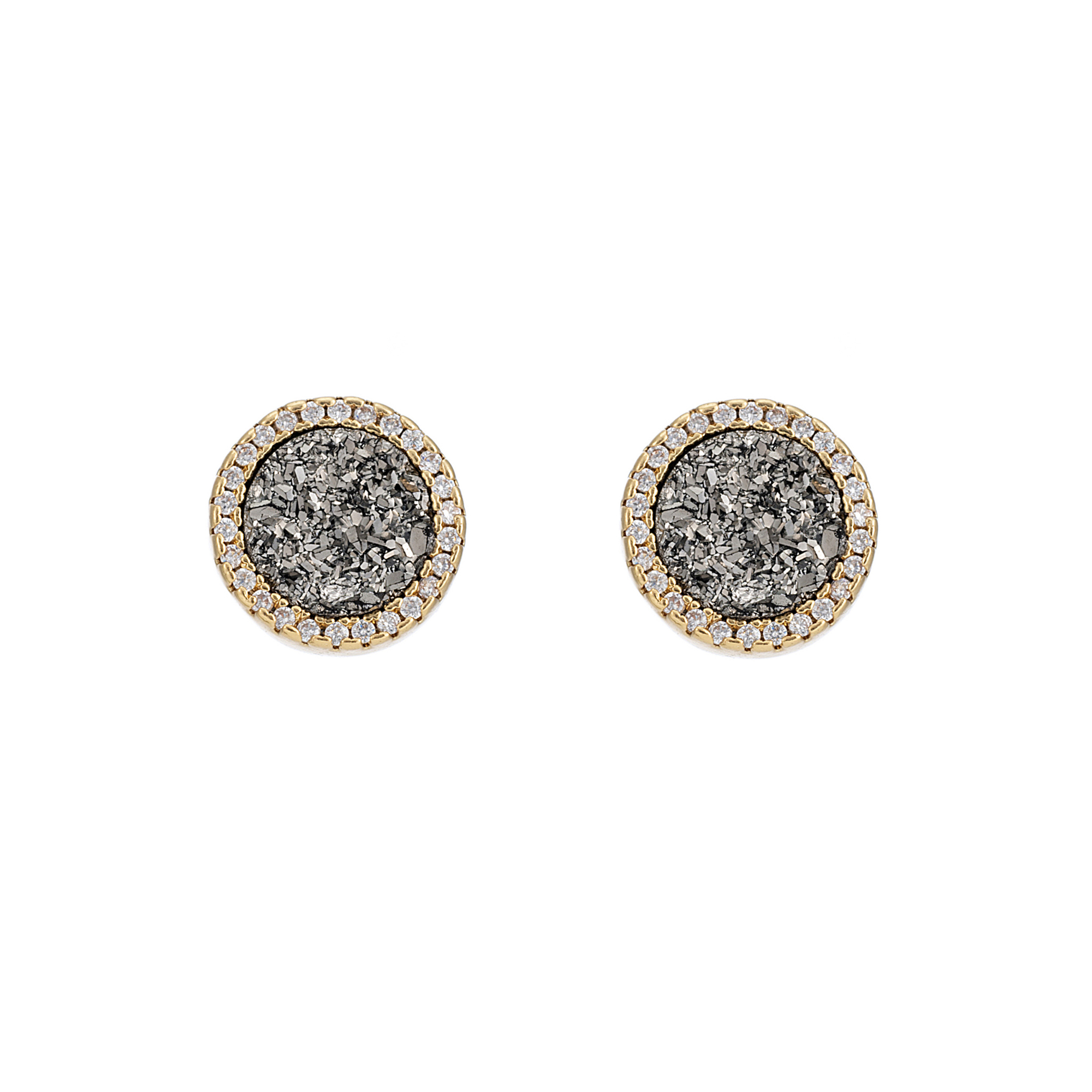 Starlet Storm Circle Earrings