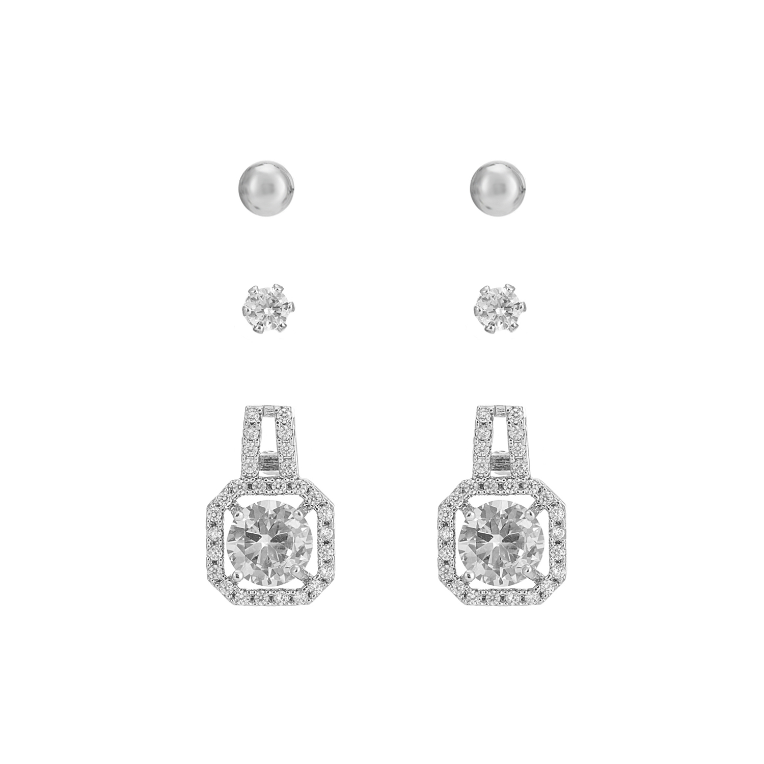 SILVER Signature Sparkle Earring Gift Set