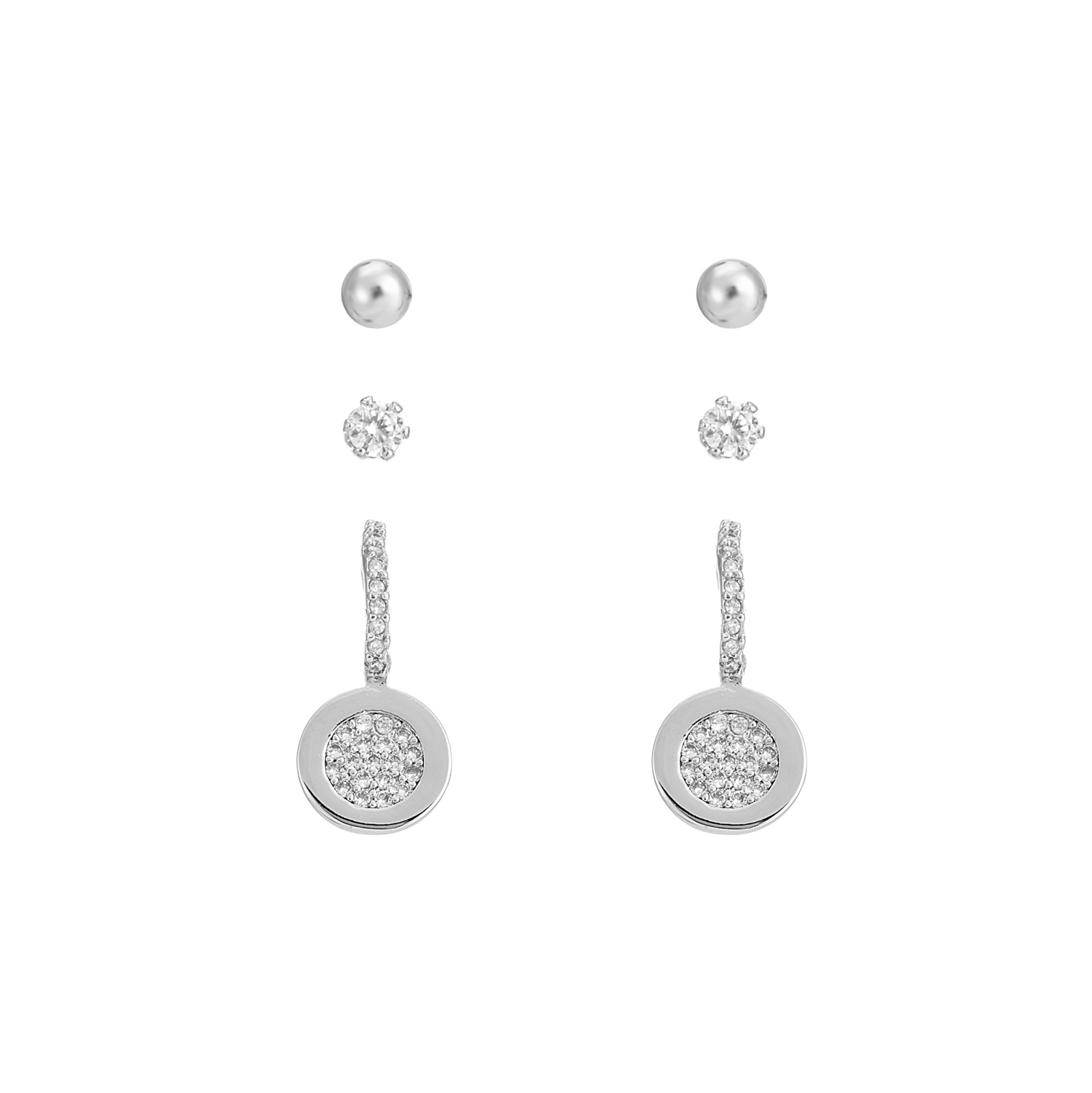 SILVER Classic Sparkle Earring Gift Set