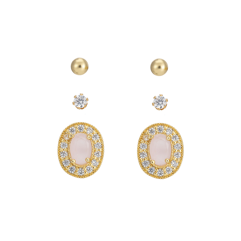 GOLD Rose Sparkle Earring Gift Set