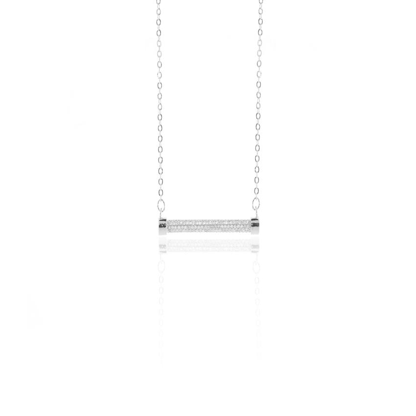 Pave Eternal Bar Necklace