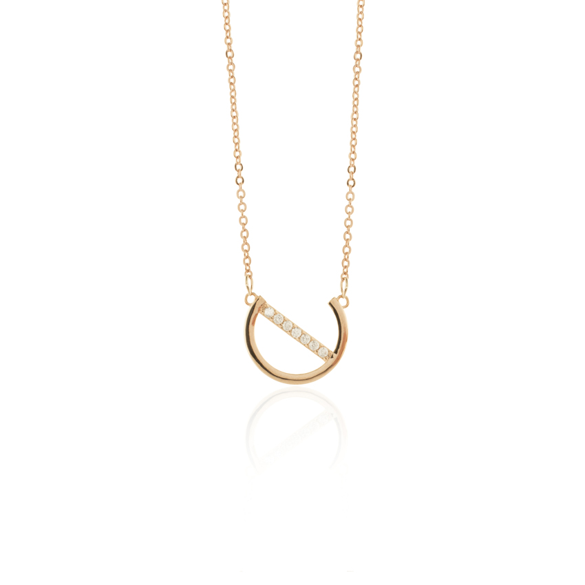 Rose Gold Deco Dial Necklace
