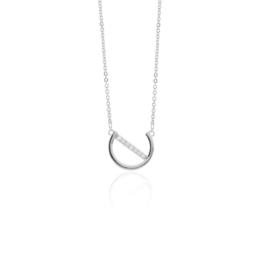 Silver Deco Dial Necklace
