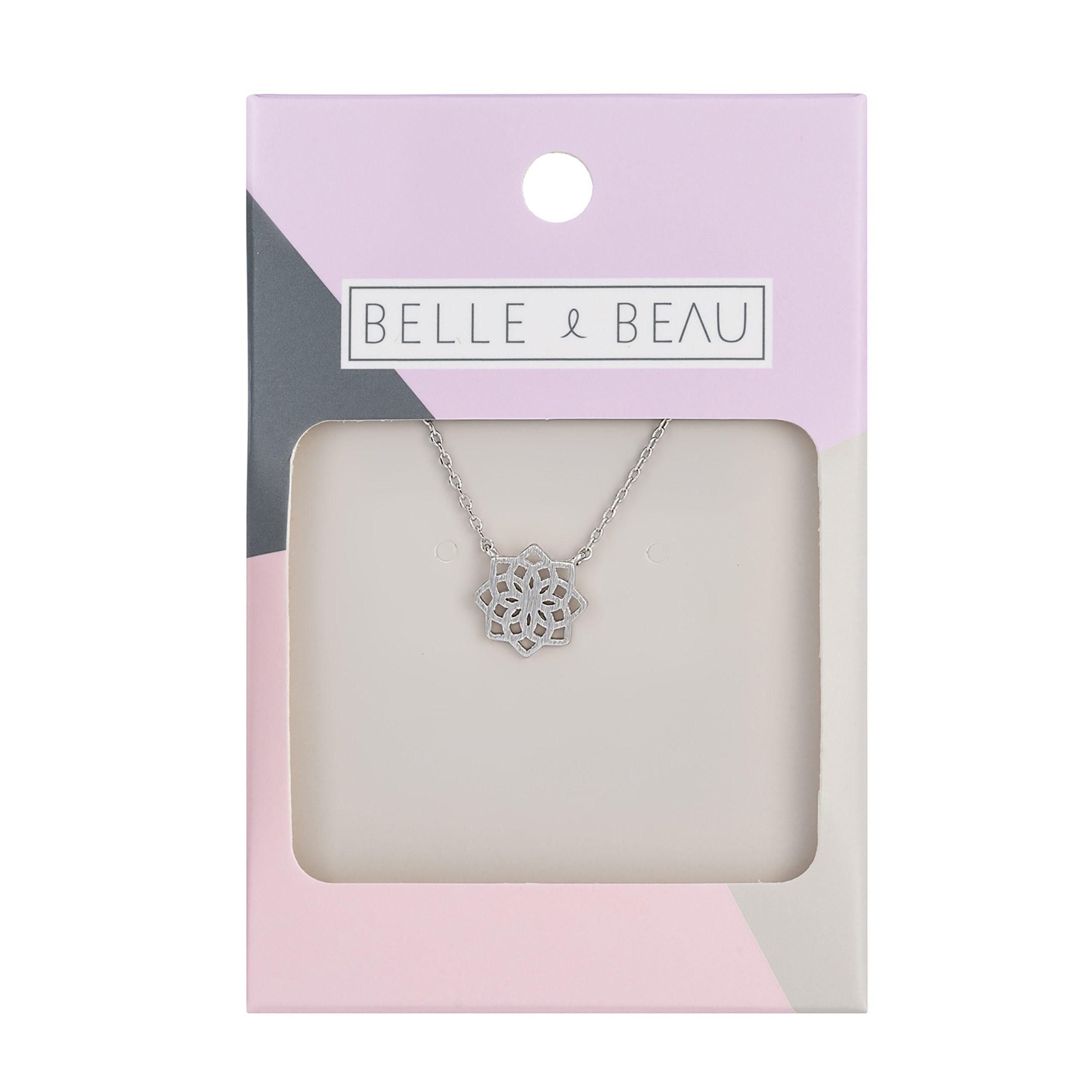 Silver Kaleidoscope Star Necklace