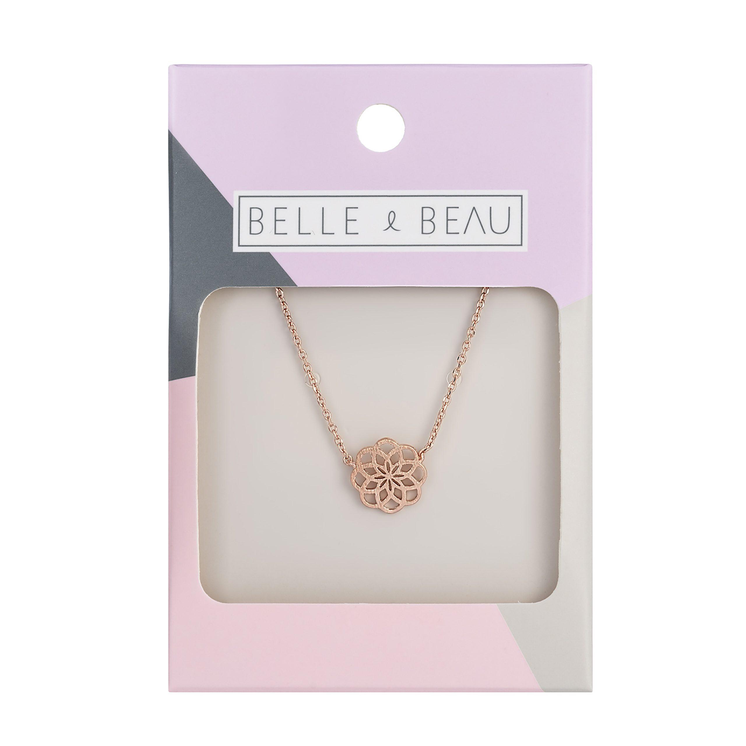 Rose Gold Kaleidoscope Flower Necklace